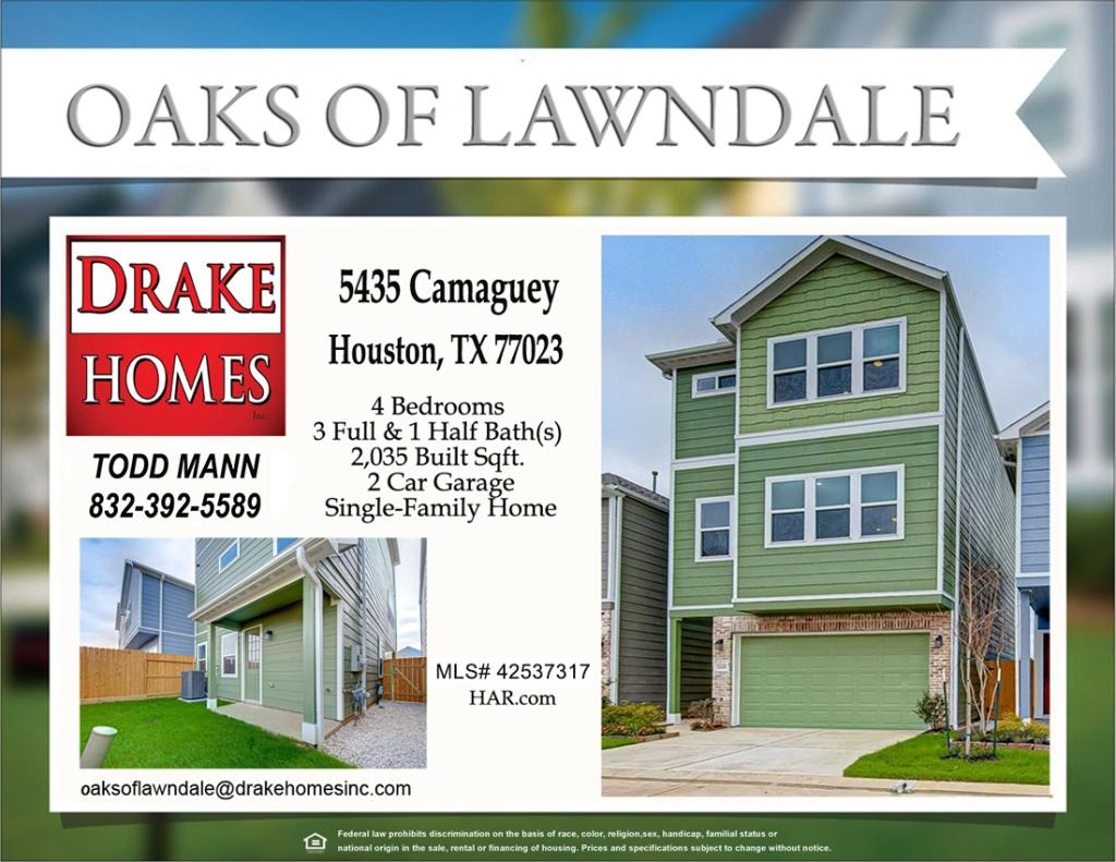 Oaks Of Lawndale Andrew Floor Plan