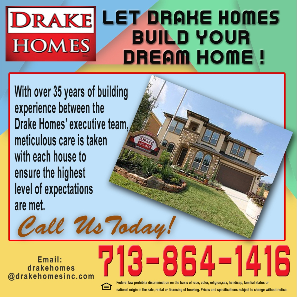 Let Drake Homes build your dream home.