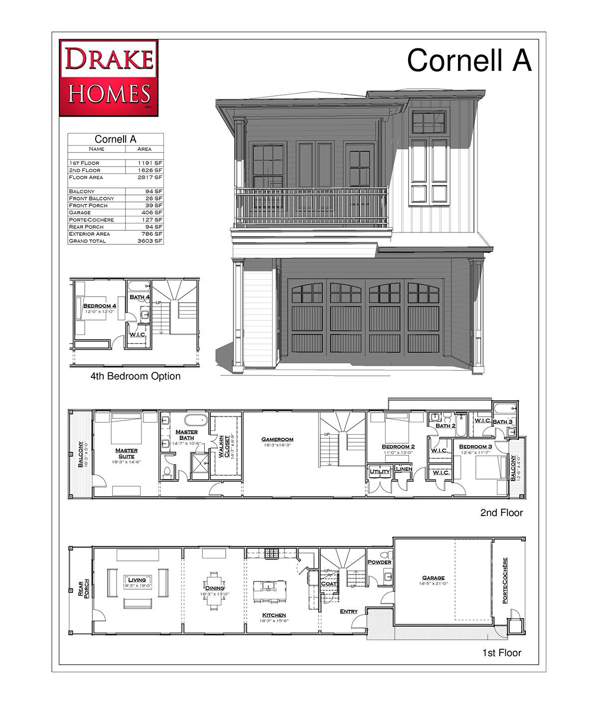Cornell A Floor Plan