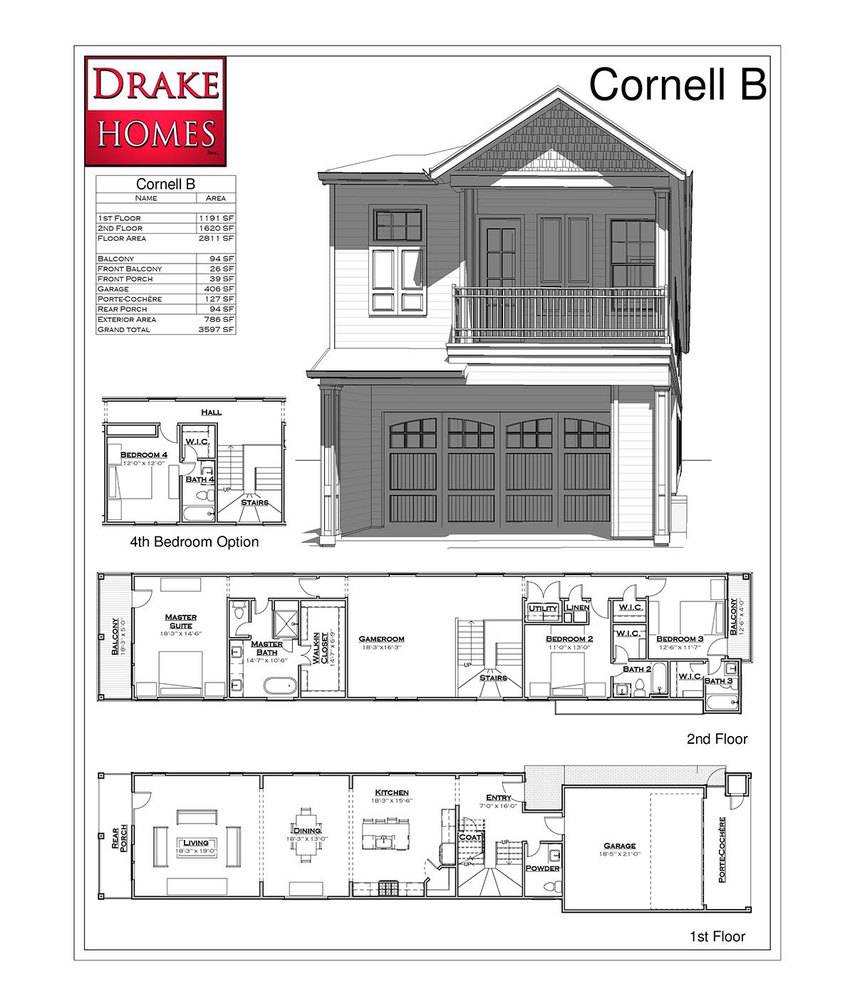 Cornell B Floor Plan