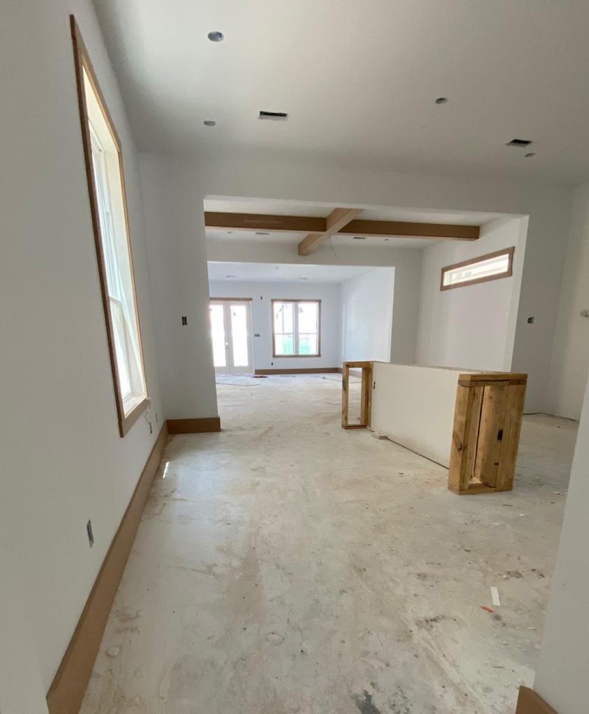 Kitchen under construction
