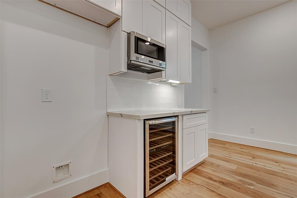 Kitchen with wine cooler